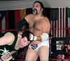 """Right Stuff"" Steven Lust of the Middlesex Express punishes Tom Billington at the 2016 Renegade Wrestling Alliance (aka RWA Wrestling) ""Summertime Showdown"" event."