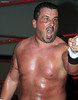 "Steve Corino enraged after his loss to Antonio Atama at the XWA Wrestling ""Retribution"" show held on June 27, 2015 in Cranston, Rhode Island."