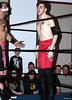 "Ryan Cassidy of The Upstate Connection vs. Tomahawk of The Aristocrats at Lucky Pro Wrestling's ""Homecoming"" event held on February 24, 2017 at the Elks Lodge Outdoor Pavilion in Hudson, Massachusetts."