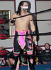 """Tomahawk of The Aristocrats during his match against The Upstate Connection at Lucky Pro Wrestling's """"Homecoming"""" event held on February 24, 2017 at the Elks Lodge Outdoor Pavilion in Hudson, Massachusetts."""