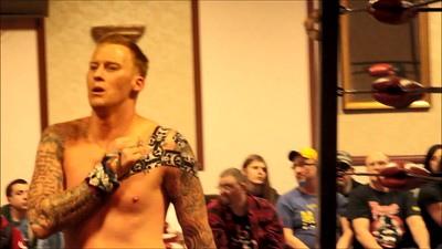 """VIDEO: """"Platinum Playboy"""" Randy Shawn aka J-Busta vs. Kellan """"The Riot"""" Thomas at Lucky Pro Wrestling's """"Homecoming"""" event held on February 24, 2017 at the Elks Lodge Outdoor Pavilion in Hudson, Massachusetts."""