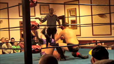 """VIDEO: The """"Three-Way Dance"""" featuring Vern Vicallo vs. Colin Delaney vs. Anthony Stone at Lucky Pro Wrestling's """"Homecoming"""" event held on February 24, 2017 at the Elks Lodge Outdoor Pavilion in Hudson, Massachusetts."""