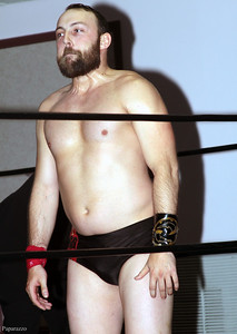"""Colin Delaney prior to the """"Three-Way Dance"""" vs. Anthony Stone and Vern Vicallo at Lucky Pro Wrestling's """"Homecoming"""" event held on February 24, 2017 at the Elks Lodge Outdoor Pavilion in Hudson, Massachusetts."""