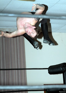 "Scotty Aero during the Six Person Tag Team Match at the Truly Independent Wrestling (aka TIW Wrestling) ""Snow Brawl"" event held on January 28, 2017 at the Pilgrim Memorial Church and Parish House in Pittsfield, Massachusetts."