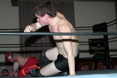"Scotty Aero vs. Rickety Rocket during the Six Person Tag Team Match at the Truly Independent Wrestling (aka TIW Wrestling) ""Snow Brawl"" event held on January 28, 2017 at the Pilgrim Memorial Church and Parish House in Pittsfield, Massachusetts."