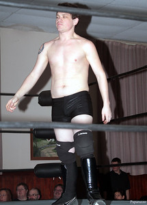 "Scotty Aero prior to the Six Person Tag Team Match during the Truly Independent Wrestling (aka TIW Wrestling) ""Snow Brawl"" event held on January 28, 2017 at the Pilgrim Memorial Church and Parish House in Pittsfield, Massachusetts."