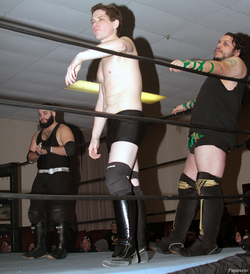 """Scotty Aero prior to the Six Person Tag Team Match during the Truly Independent Wrestling (aka TIW Wrestling) """"Snow Brawl"""" event held on January 28, 2017 at the Pilgrim Memorial Church and Parish House in Pittsfield, Massachusetts."""