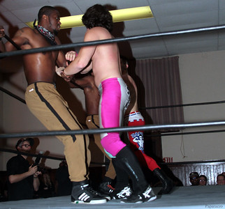 """InZanely Rude (Zane Bernardo & RJ Rude) vs. The Street at the Truly Independent Wrestling (aka TIW Wrestling) """"Snow Brawl"""" event held on January 28, 2017 at the Pilgrim Memorial Church and Parish House in Pittsfield, Massachusetts."""