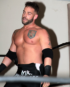 "Tyler Vincent during his match against C.J. Scott at the Truly Independent Wrestling (aka TIW Wrestling) ""Snow Brawl"" event held on January 28, 2017 at the Pilgrim Memorial Church and Parish House in Pittsfield, Massachusetts."
