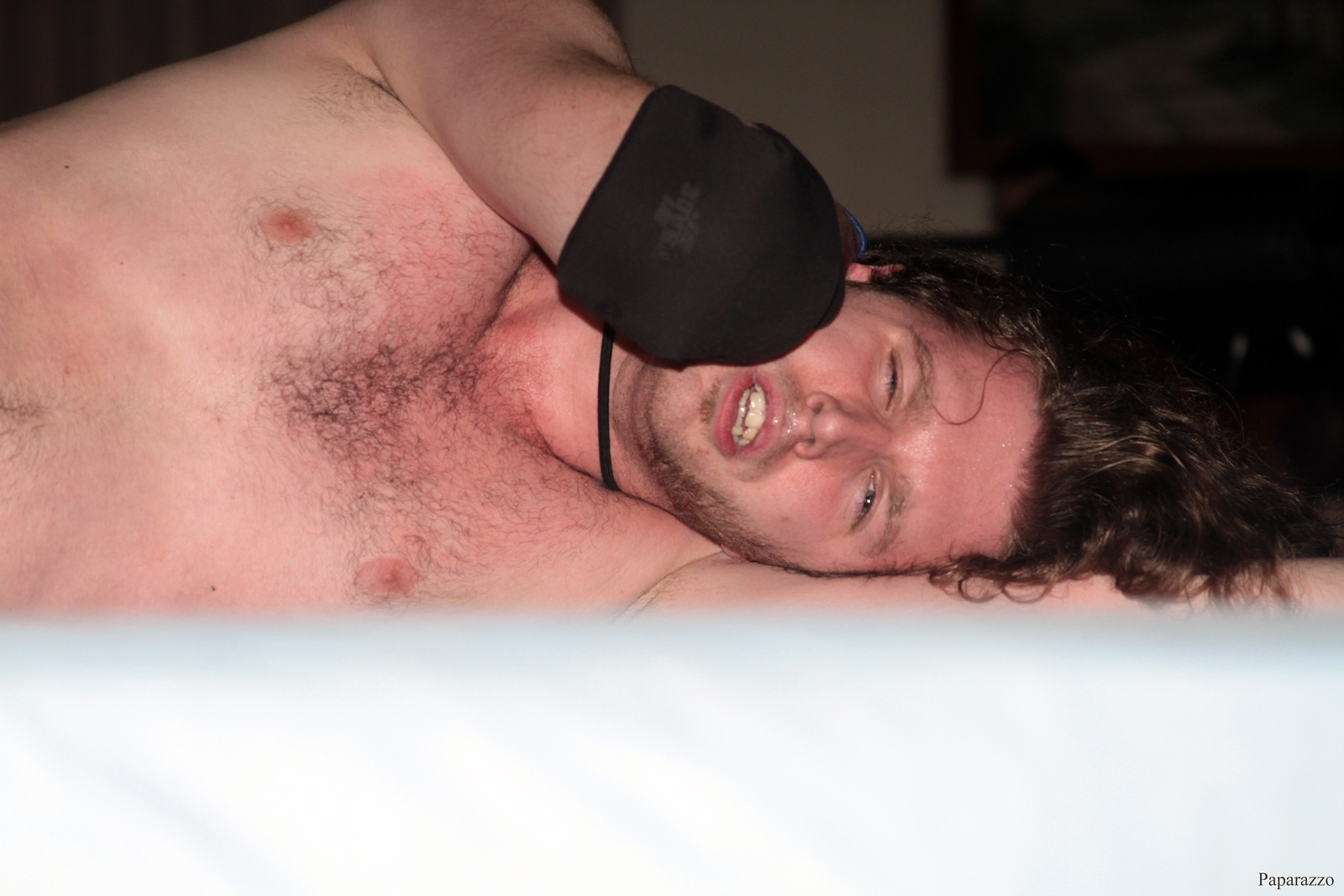 """Zane Wolf after his match against Ivan Ali at the Truly Independent Wrestling (aka TIW Wrestling) """"Snow Brawl"""" event held on January 28, 2017 at the Pilgrim Memorial Church and Parish House in Pittsfield, Massachusetts."""