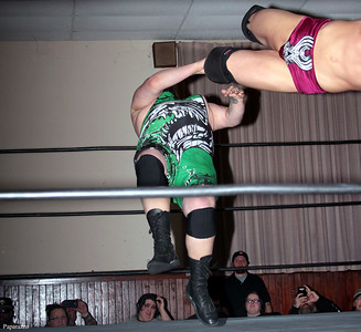 "Zack Clayton vs. Lance Madewell at the Truly Independent Wrestling (aka TIW Wrestling) ""Snow Brawl"" event held on January 28, 2017 at the Pilgrim Memorial Church and Parish House in Pittsfield, Massachusetts."