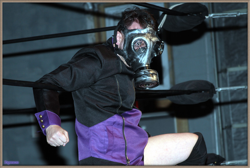 """Sean Leiter of The Epidemic prior to the eight-person tag team event at the Xtreme Wrestling Alliance (aka XWA Wrestling) """"Thursday Night Throwdown"""" event held on January 18, 2018 at the XWA Event Center in West Warwick, Rhode Island."""