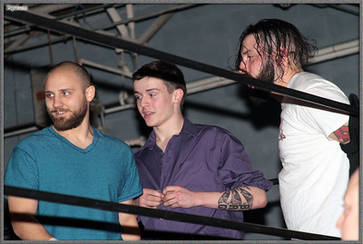 "Jason Daniels, Todd Harris, and Nick Delta prior to the eight-person tag team event at the Xtreme Wrestling Alliance (aka XWA Wrestling) ""Thursday Night Throwdown"" event held on January 18, 2018 at the XWA Event Center in West Warwick, Rhode Island."