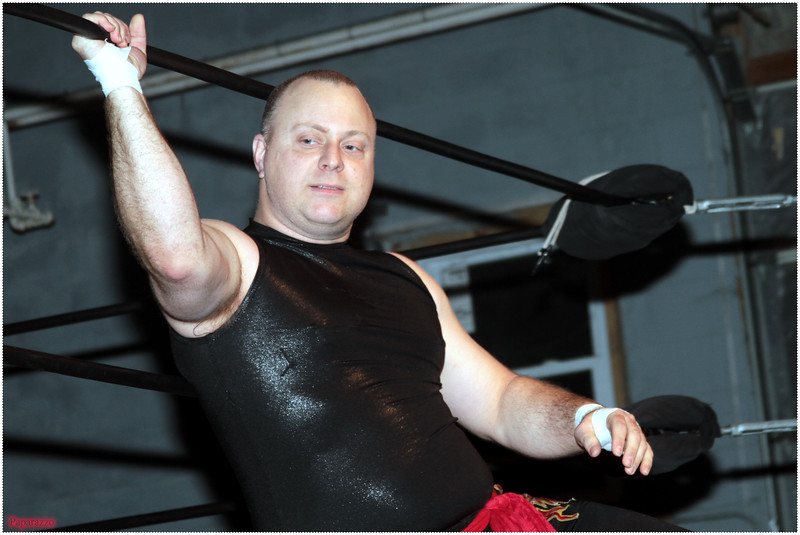 """Doc Shady prior to the eight-person tag team event at the Xtreme Wrestling Alliance (aka XWA Wrestling) """"Thursday Night Throwdown"""" event held on January 18, 2018 at the XWA Event Center in West Warwick, Rhode Island."""