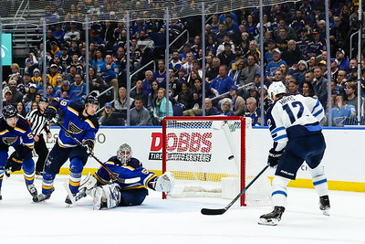 NHL: APR 14 Stanley Cup Playoffs First Round - Jets at Blues
