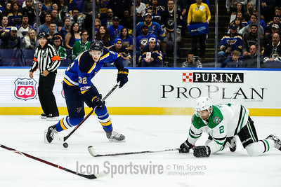 NHL: OCT 07 Stars at Blues