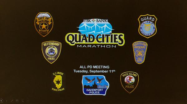 Quad Cities Marathon All Police Department Meeting
