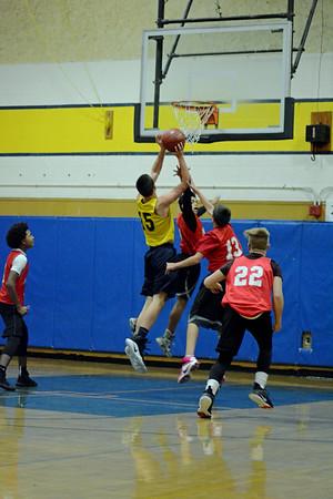 Quabbin boys MS basketball 12/15/16