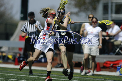 The Northeast Conference women's lacrosse title game at Sacred Heart University on Sunday, April, 26, 2009. The Pioneers defeated the Quinnipiac Bobcats 11-6 to win their second consecutive NEC title. photo by Mike Orazzi