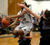 Deja Rawls goes up for a shot past Central Bucks South's Sam Clevenstine.