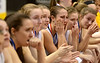Bob Raines--Montgomery Media<br /> Central Bucks West's bench is a picture of misery after their 40-35 loss to Cumberland Valley in the PIAA AAAA girls basketball championship game against  Friday, March 20, 2015 at the Giant Center, Hershey.