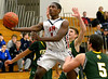 Hatboro Horsham's Ezekiel Sloan lays up a shot against visiting Allentown Central Catholic Wednesday night, Jan. 7, 2015.<br /> Bob Raines-Montgomery Media