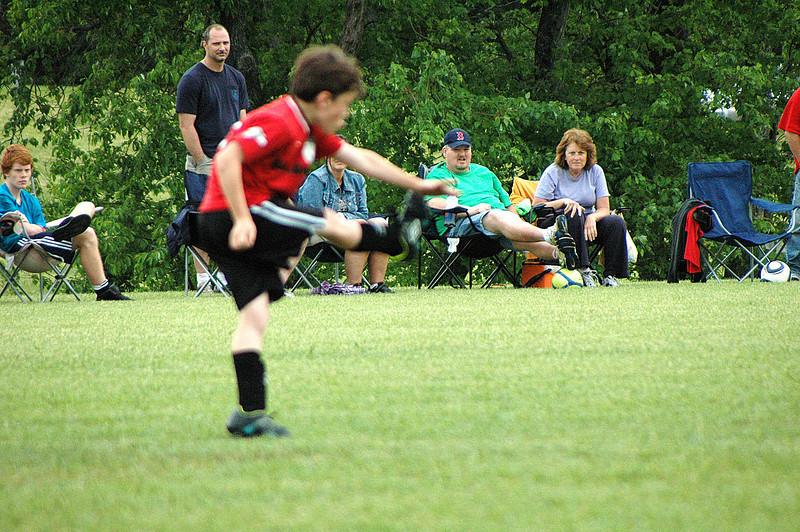 The winning form! Dalton tried out for a position on the Richmond Kickers Soccer team.