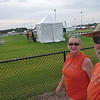 Arriving at the Cup at 8am Saturday morning in our RIT tees ready to cheer for Freddy and her team.