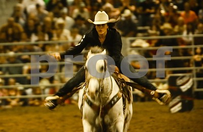 A Barrel Racer heads for home