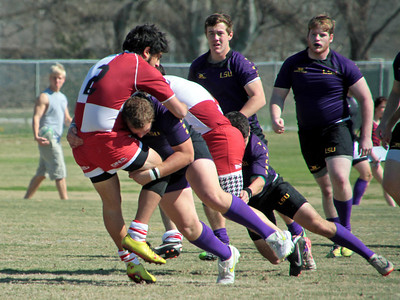 2013 COLLEGE RUGBY: Alabama vs. LSU. LSU wins.