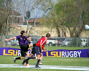 2011 COLLEGE RUGBY: Arkansas State vs. LSU @ LSU.  Arkansas State wins.