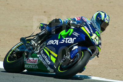 Sete Gibernau riding the Team Telefonica MoviStar Gresini Honda RC211V during the 2005 MotoGP Red Bull USGP at Mazda Raceway Laguna Seca