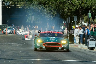 Tomas Enge in the 007 Aston Martin DBR9