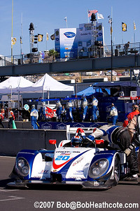 Dyson Porsche RS Spyder taking it's place on the grid