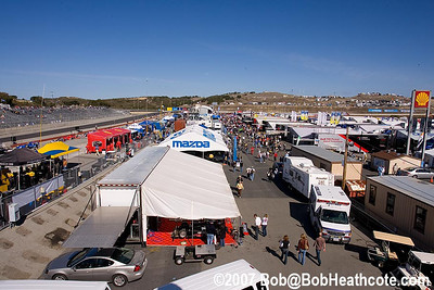 Paddock view from atop the media center