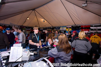 Fans in the ALMS merchandise tent