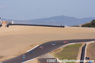 Prototyoes on formation lap at Turn 9