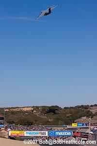 C-17 flys over Laguna Seca Raceway