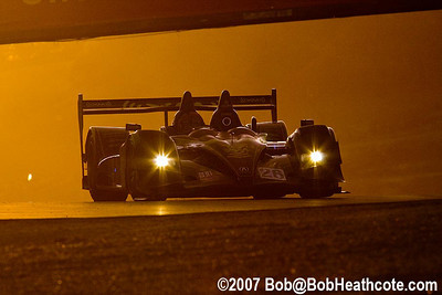 Dusk falls over the Bryan Herta in the #26 Acura
