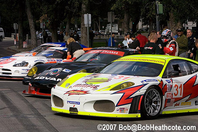 GT cars in Plaza de Cesar Chavez