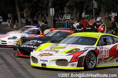 GT cars in Plaza de Cesar Chavez