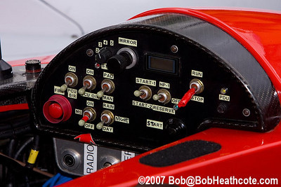 Control panel for the #06 Lola/AER