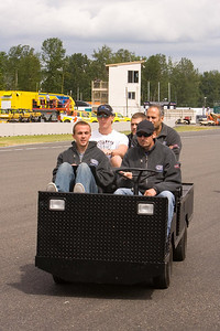 Track ride for Frankie Muniz