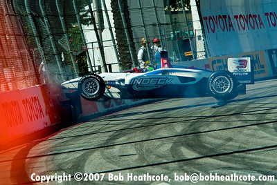 Paul Tracy crashes during practice for the Long Beach Grand Prix, breaking his back. Paul said the doctor advised him to stay our of the car for 2-3 months.