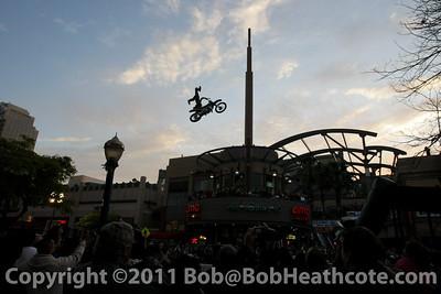 Stunt show for Thursday Thunder demo