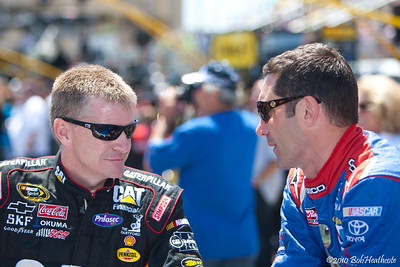 Jeff Burton and Max Papis