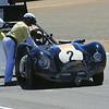 Crash damage for Larry Bowman, 1958 Lister Corvette Group 3A Rolex Monterey Motorsports Reunion at Mazda Raceway Laguna Seca 2010