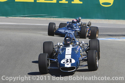 Dan Gurney honored, Eagle race cars on parade lap at Rolex Monterey Monterey Reunion 2010