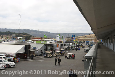 ALMS paddock before practice