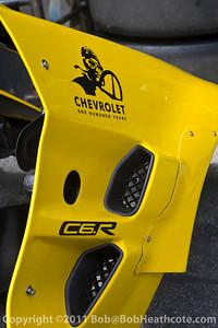 Chevrolet One Hundred Years: Detail of #4 Corvette Racing Chevrolet Corvette C6 ZR1: Oliver Gavin, Jan Magnussen